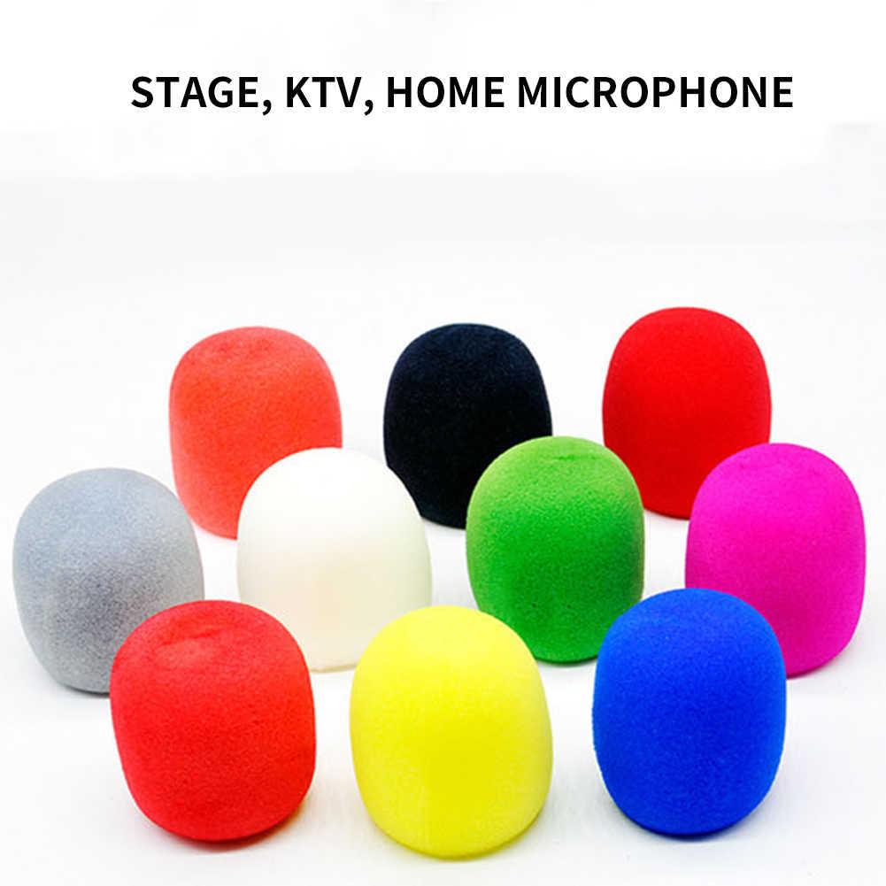 10 Piezas Esponjas Microfonos Cubiertas de Espuma de Microfono para KTV Escenario Reuni/ón y Actividades al Aire Libre Entrevista Espuma de Parabrisas de Micr/ófono