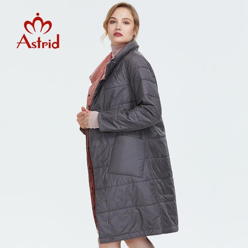 Astrid 2019 jaqueta de inverno novo casaco longo feminino fino ajuste cor sólida casaco quente à prova vento alta qualidade temperamento coatam1960