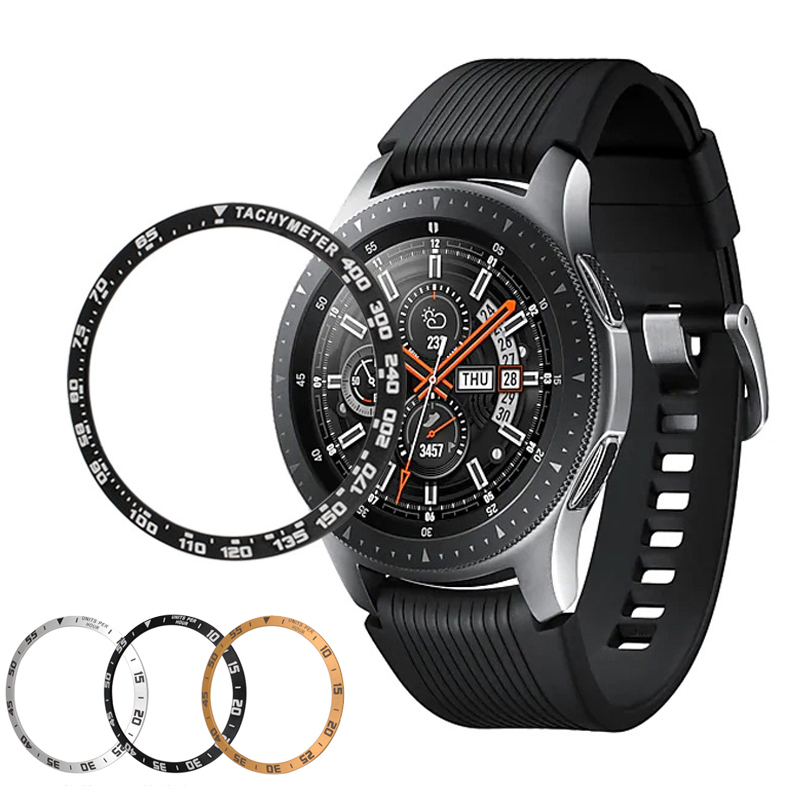 Galaxy Watch 46mm Ring For Samsung Gear S3 Frontier 42mm Metal Adhesive Cover Anti Scratch smart watch Cover accessories