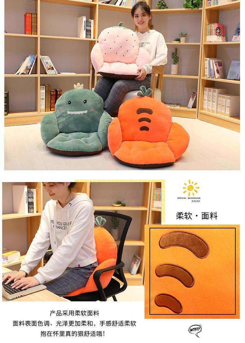 Almofada macia do assento do conforto quente