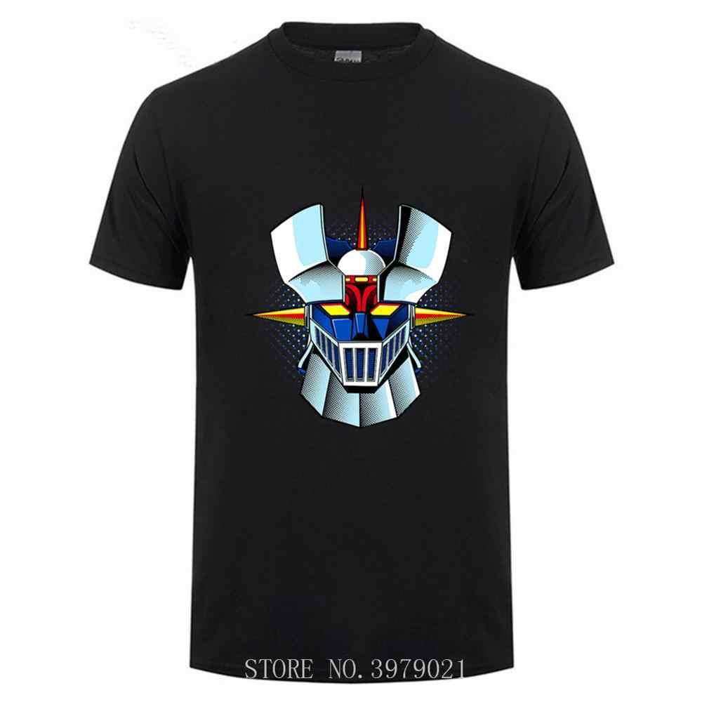 มาถึงใหม่อะนิเมะ Mazinger Z เสื้อยืดผู้ชาย Anime เก่าคลาสสิกมังงะหุ่นยนต์เสื้อยืดสีดำ Basic ชาย Tees เสื้อ