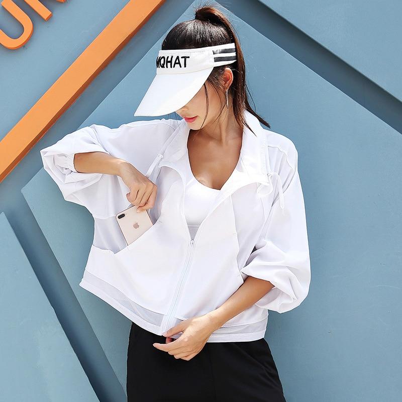 INS Hot Selling New Products Gauze Sports Clothing Women's Long Sleeve Sports Jackets Long-sleeve Yoga Shirt Plus-sized Type Out