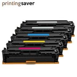 5x CF210A CF210 210A CF213A 131A uyumlu renkli Toner HP için kartuş LaserJet Pro 200 renkli M251n M251nw M276n M276nw