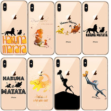 Lion King Pumba Hakuna Matata Soft TPU Shell  For iPhone 11 11Pro 5S SE 6 6S 7 8Plus Max XS XR X10 silicone cover