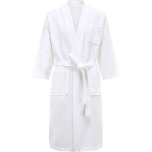 Мужское кимоно из 100% хлопка, полотенце, банный халат летнего размера плюс, вафельный банный халат, мужские халаты, одежда для сна в отеле для женщин, Халат