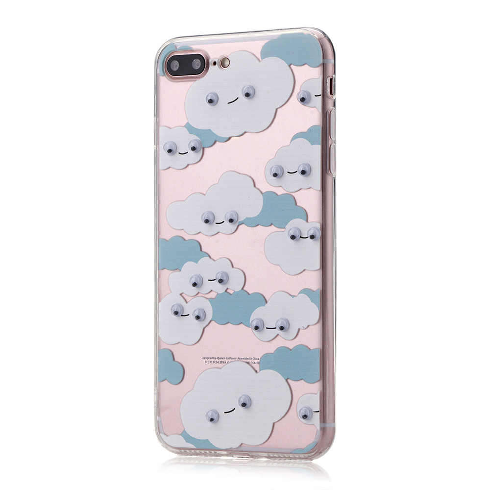 Iphone 7 プラス 3D 移動目猫馬犬漫画クリアケース Iphone 7 プラス