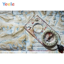 Yeele Wall Decor Photocall Compass Old Map Painting Photography Backdrops Personalized Photographic Backgrounds For Photo Studio