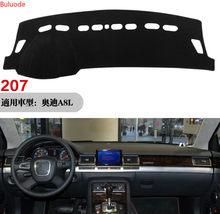 Para Audi A8 D3 2003 ~ 2010 Anti-UV 4E Anti-Slip Mat Pad Cover Dashboard Sombra Dashmat Proteger Acessórios Do Tapete S-linha 2006 2007