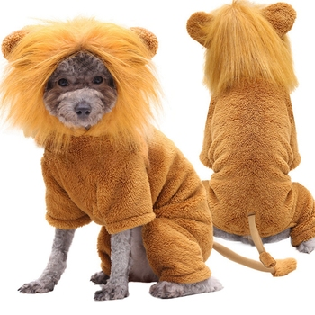 Funny Pet Clothes Golden Lion Cosplay Costume For Dog Cat Halloween Party Costume Clothing For Small Medium Large Dog image