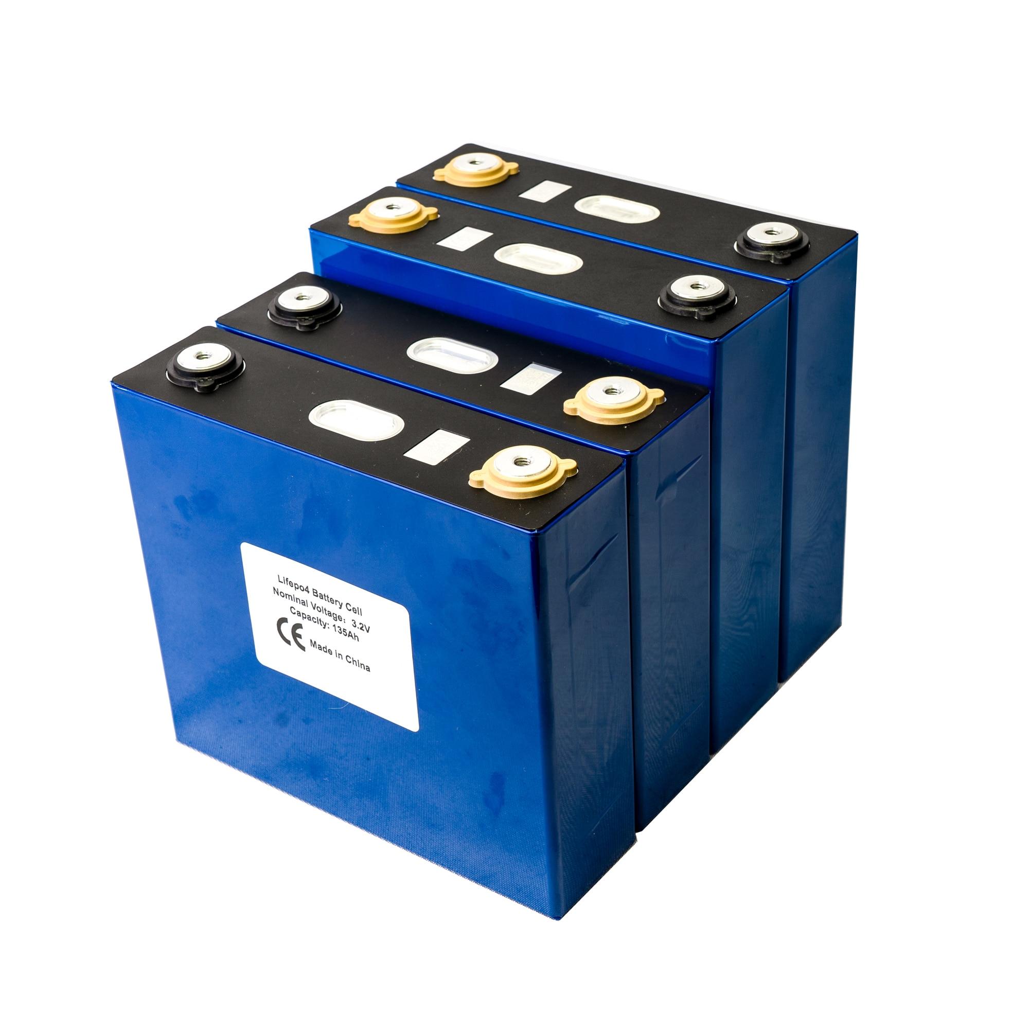4PCS GRADE A 3.2V 130AH Lifepo4 Battery Lithium Iron Phosphate Cell Solar12V  24V Cells Not 120AH 150Ah 200AH EU US TAX FREE