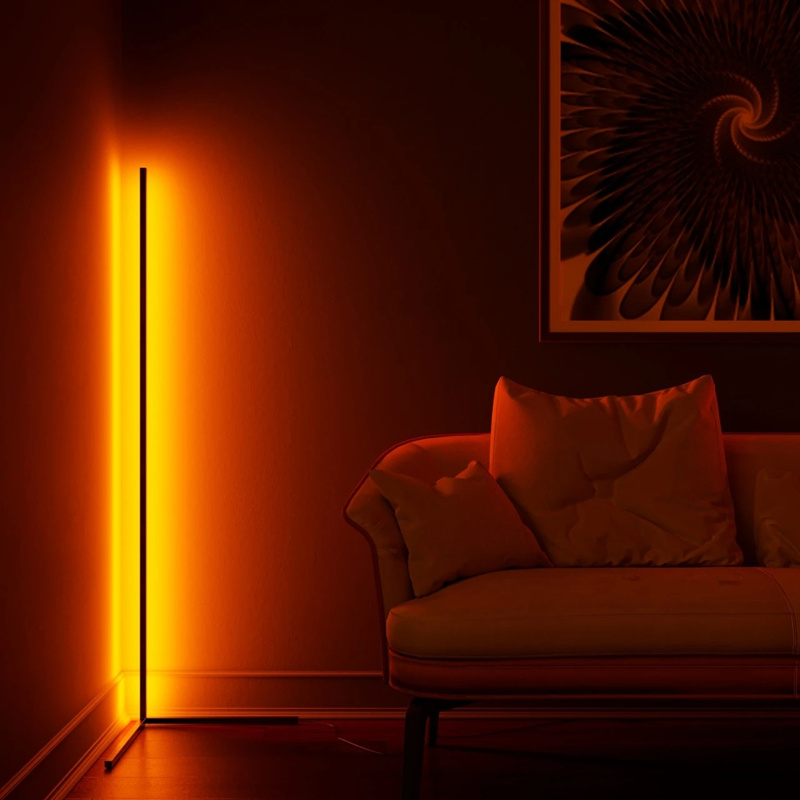 Corner Floor Lamp RGB Floor Lamps For Living Room Decoration Home Night Light Dimming Standing Lamp Bedroom Decor Floor Light