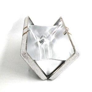 Image 5 - Transporte rápido por atacado luxo saco famoso luxos bolsas feminino festa à noite cristal pilha de dinheiro rico garras bill bolsas