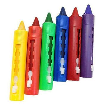 6 sztuk zmywalny kredka dzieci dziecko czas na kąpiel farby długopisy do rysowania zabawki na Halloween makijaż 6 8 #215 1 4cm EM88 tanie i dobre opinie CN (pochodzenie) 6 kolory 6 kolory box Other Zestaw
