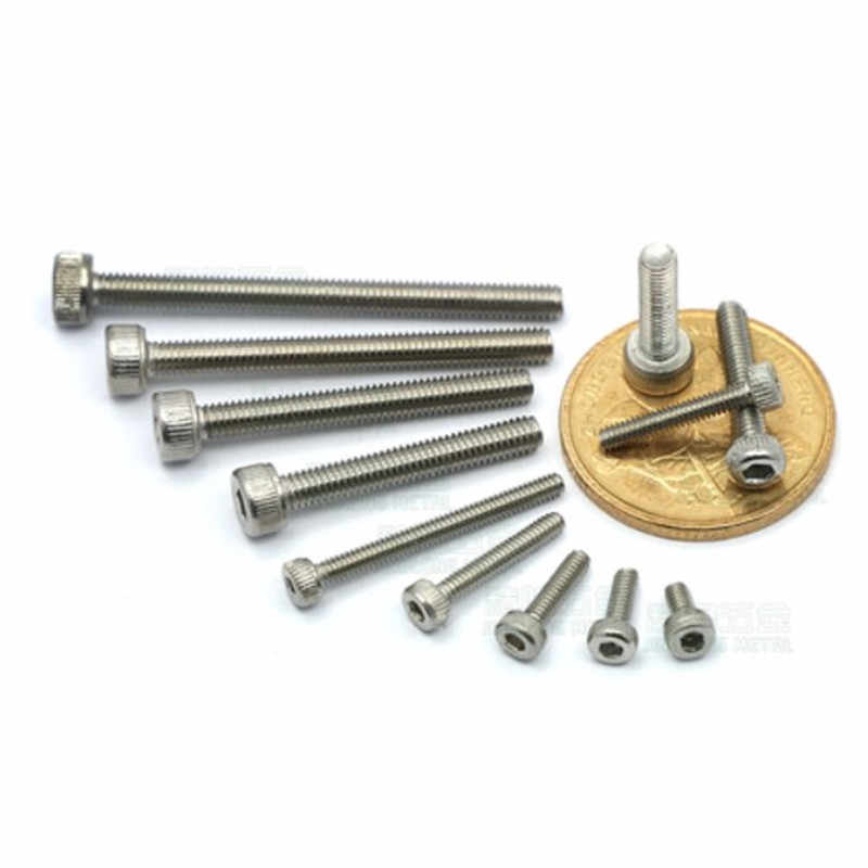 Color : 20mm, Size : M5 NO-LOGO Durable 5//10Pcs DIN912 M4 M5 Black Socket Head Cap Screw and Spring Washer and Plain Washer Assemblies HW343 5Pcs