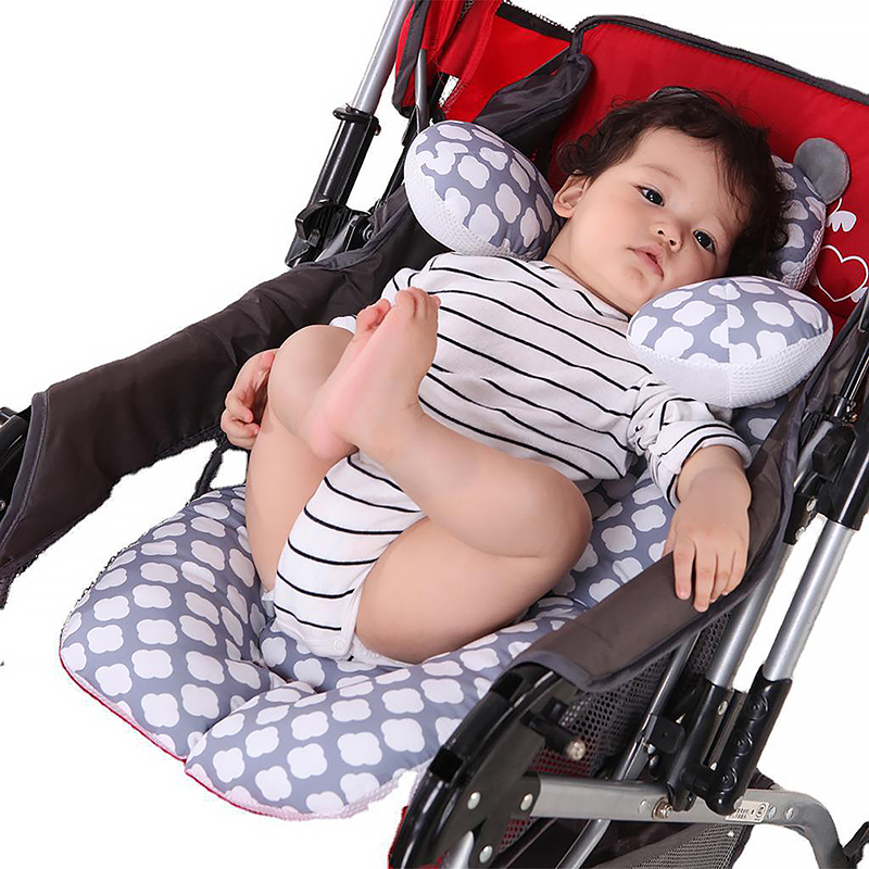 Baby Comfortable Car Insert Protective Pad Double Sides Stroller Cushion For Infant Suitable For Autumn And Winter