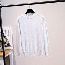 Fashion Autumn Winter Sweater Women Long Sleeve Pullover loose Basic Sweaters O-neck Bright line Knit Tops black white gray Khak цена