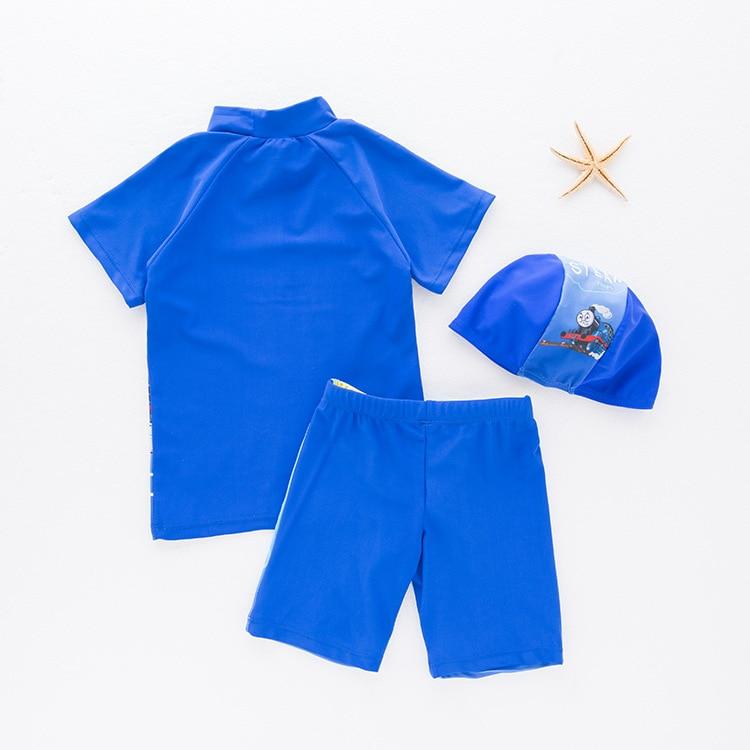 KID'S Swimwear Boy Split Swimsuit Locomotive Cartoon Swimwear Beach Hot Springs Casual Holiday Coat