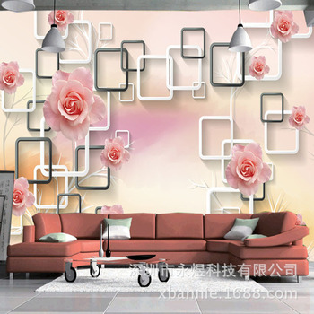 TV Background Wallpaper Wallpaper Self-Adhesive Large Mural Living Room Bedroom TV Wall-Style Decorative Pattern