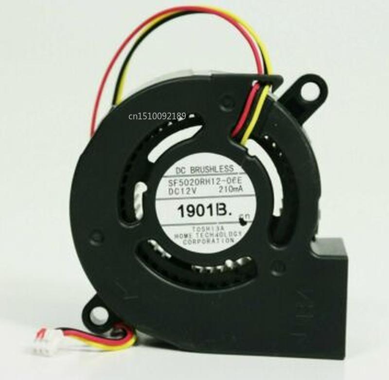Free Shipping For SF5020RH12-06E DC 12V 210MA 50x50x20mm 3-Wire Server Projector Fan
