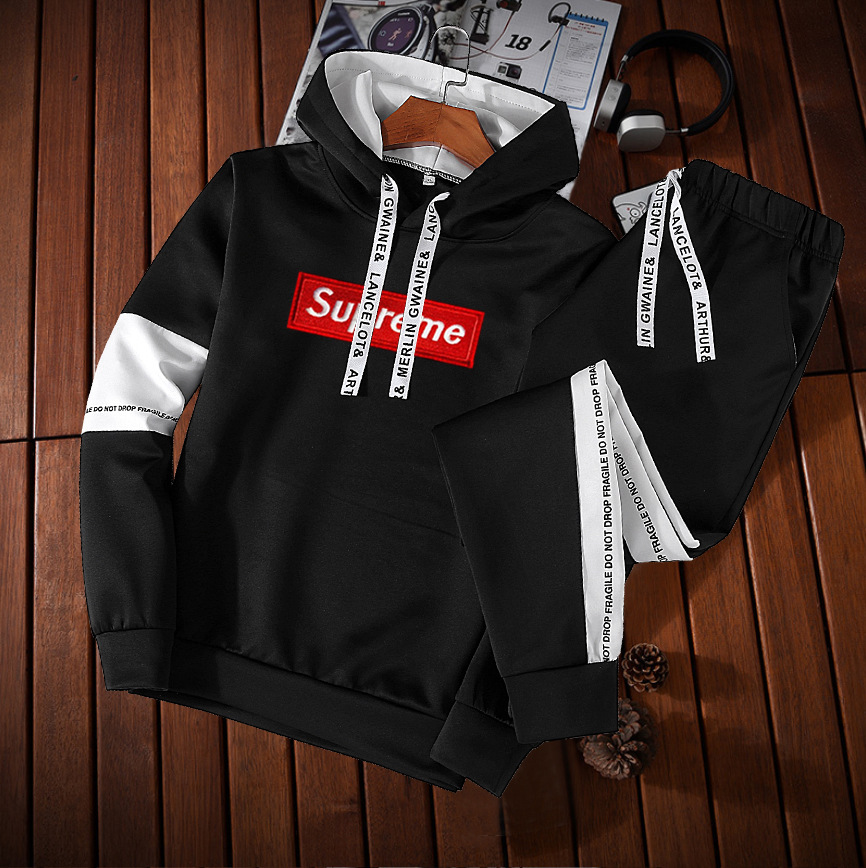 Hoodie Suit Men's 2018 Spring And Autumn New Style Korean-style Students Set Sports Youth Set MEN'S Casual Suit