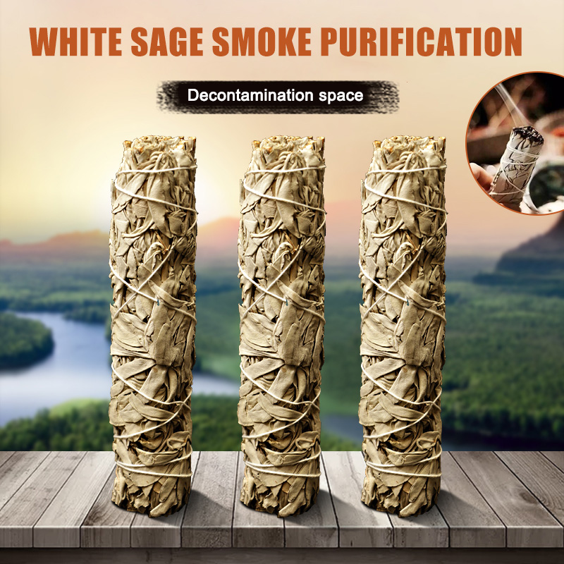 White Sage Bundle Smudges Stick Pure Leaf Wands For Home Cleansing Negativity Removal Smoky Purification Healing And Meditation