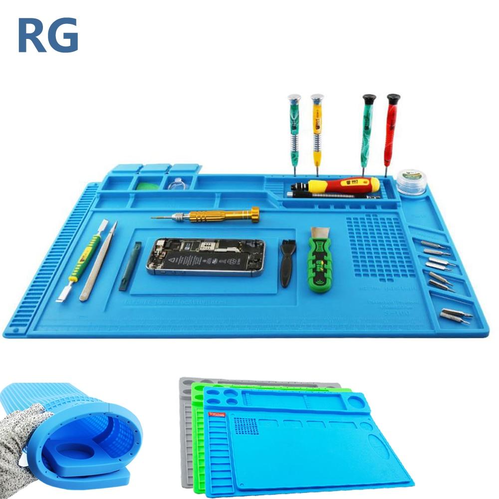Heat Insulation Silicone Working Mat Heat-resistant Soldering Station Repair BGA Insulator Pad Maintenance Platform Magnetic Cus