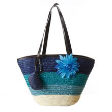 Fashion Type Women Girls Flower Decor Summer Beach Handbag Straw Totes Holiday Shoulder Bag Drop Shipping