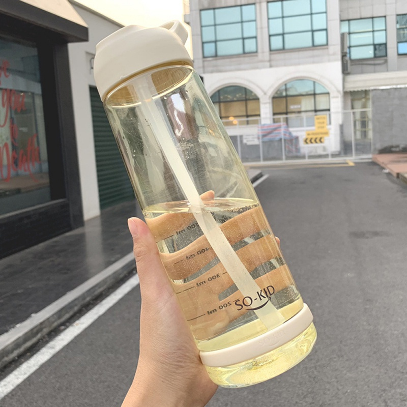 New 550 850 1000 Ml Sports Water Bottles With Straw Plastic Bottle For Outdoor Travel Children New 550/850/1000 Ml Sports Water Bottles With Straw Plastic Bottle For Outdoor Travel Children Students School Bottle