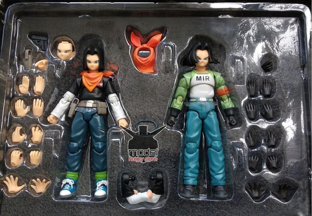 in stock 1/12 Android NO.17 Action Figure MIR Dragon Ball Super DBZ  Brinquedos Model Toy  set-in Action & Toy Figures from Toys & Hobbies