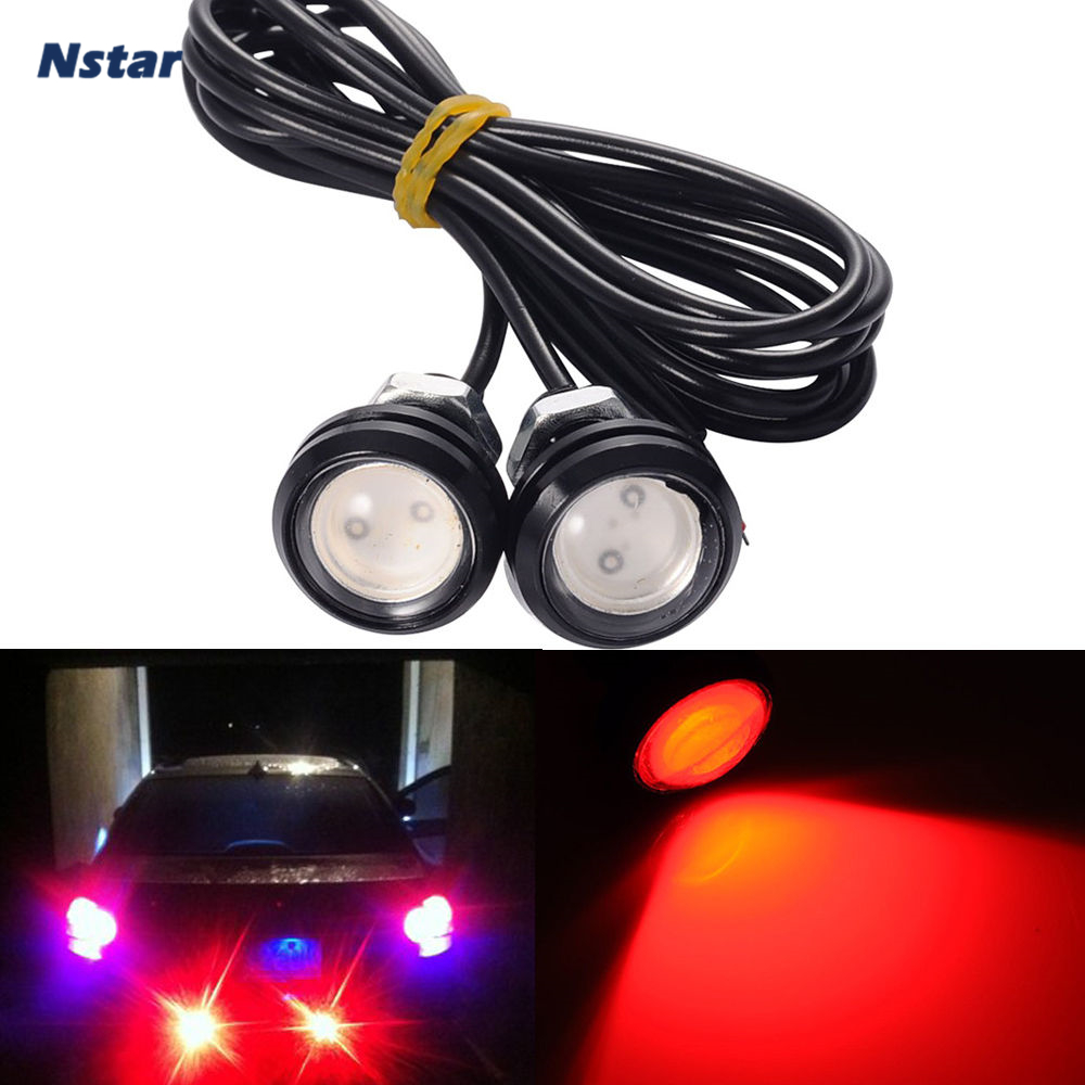 Nstar 2pcs Eagle Eyes Car Led Signal Lamp Daytime Running Light Auto Accessories Fit For Fabia Leon Sportage Corsa 003