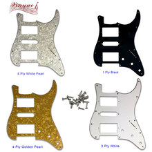 Pleroo Guitar Parts - For US 72' 11 mounting Screw Hole Standard St Hsh PAF Humbucker strat Guitar pickguard many colors цена