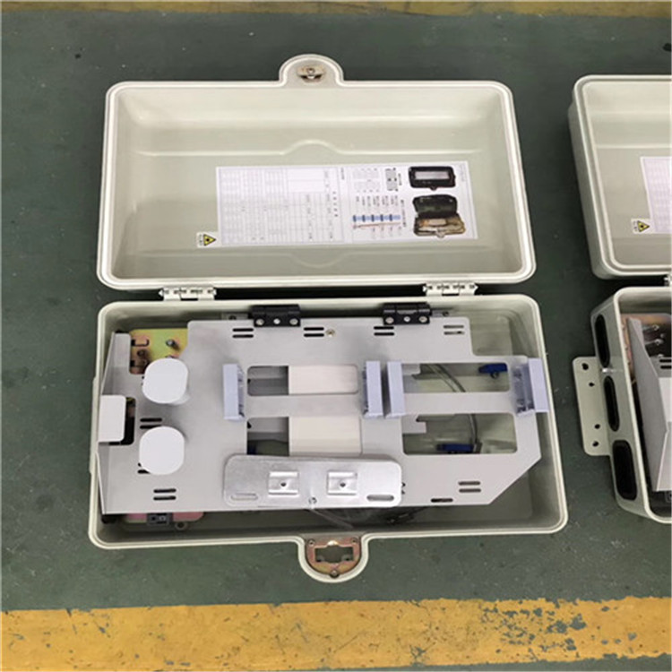 High Quality 48 Core Indoors And Outdoors Pole Type Optical Fiber Distribution Box SMC Flange Braced Cable Splice Box