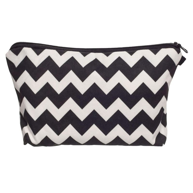 BEAU-Small Make Up Bag,Personalised Cosmetic Bag Wash Bag Makeup Pouch For Girls Or Women(Stripe)