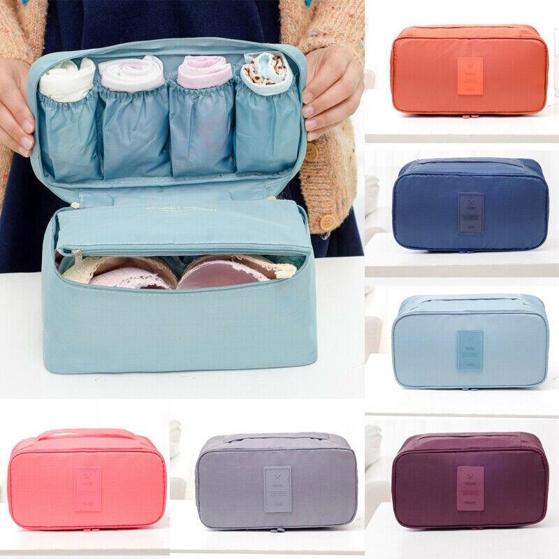 Women Cosmetic Bag Bra Underwear Sock Packing Cube  Waterproof Oxford Fiber Organizer Cases Travel Storage Bag
