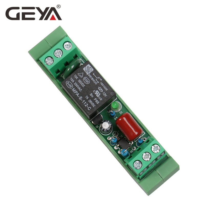 Free Shipping GEYA 1 Way Relay Module 12V 24V 230V NPN PNP Interface Solid State Relay Modules