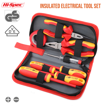 Hi-Spec Insulated Pliers and Screwdriver Set VDE 1000V Approved S2 Magnetic Screwdriver Industry Plier Electrician Hand Tool Set