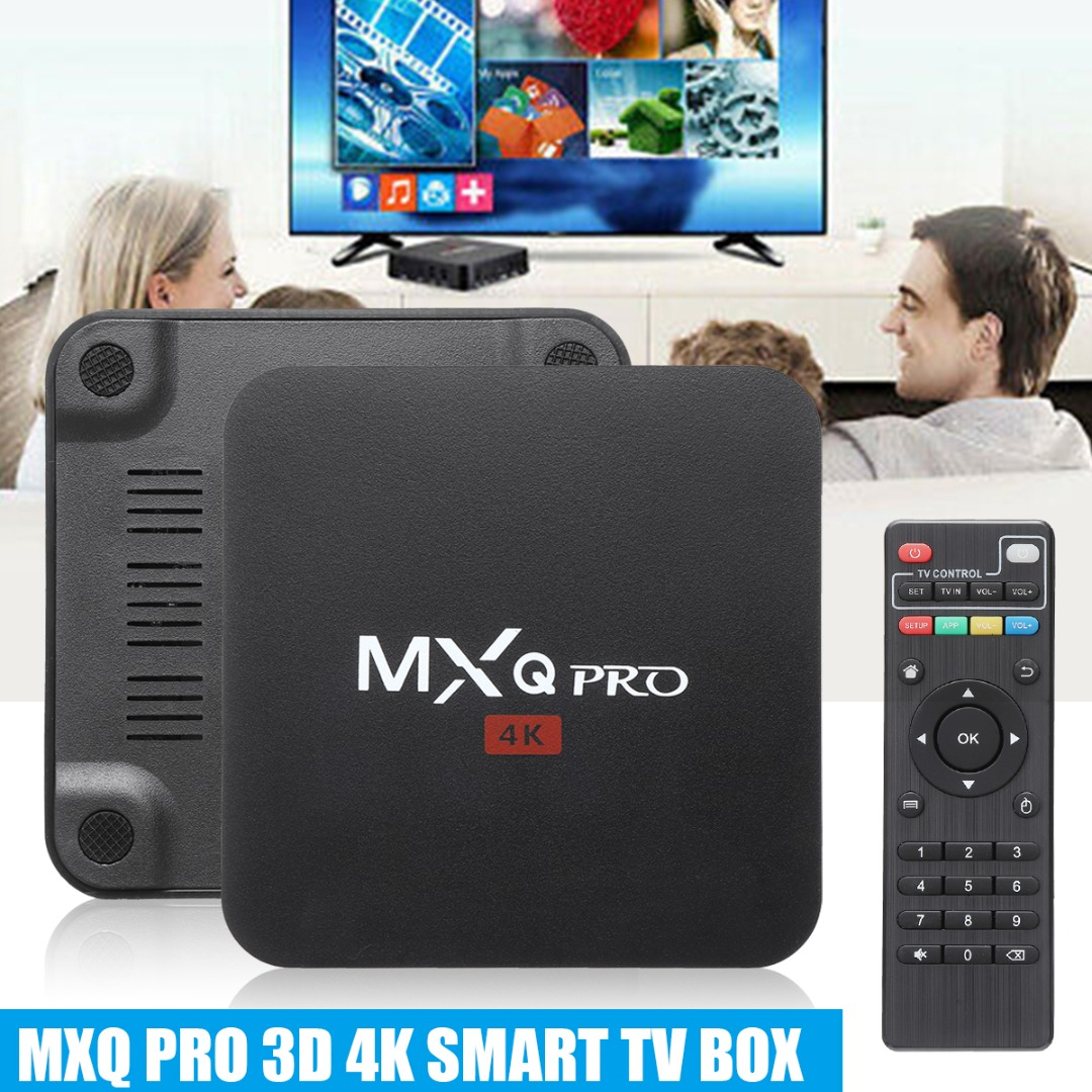 1G/8G <font><b>4K</b></font> Media Player For <font><b>MXQ</b></font> <font><b>Pro</b></font> 3D 1080P HDMI Smart <font><b>TV</b></font> Set Top Android 8.1 <font><b>TV</b></font> <font><b>Box</b></font> 64 Bit Support Online Video Movies Music image