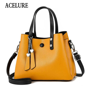Image 1 - ACELURE Luxury Handbags Women Bags Designer New Fashion PU Leather Women Bag Woman Tote Bags for Women Casual Ladies Hand Bags