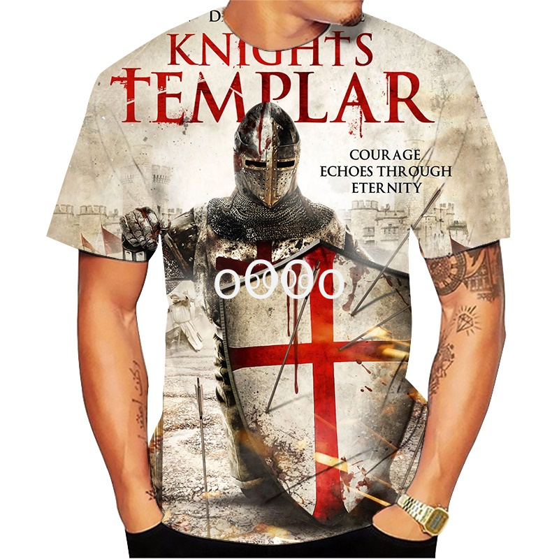 All Over Printed Knights Templar 3d T Shirts Tshirt Tees