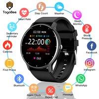 TagoBee-reloj inteligente deportivo para hombre y mujer, pulsera con Monitor de ritmo cardíaco, pronóstico de clima de pantalla redonda, Android IOS, 2021