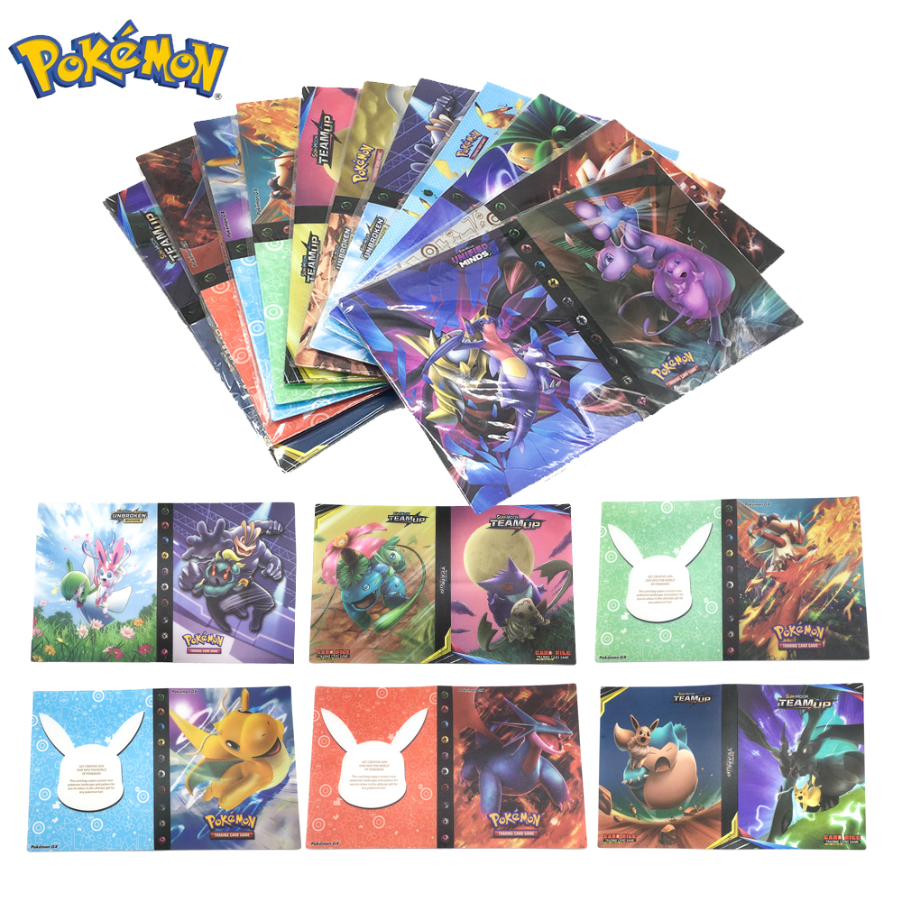 Pokemon 240pcs Cards Holder Album Toys For Children Collection Album Book Playing Trading Card Game Pokemon Gift