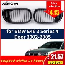 2 шт. автомобильный глянцевый черный автомобиль Передняя почечная гоночная решетка гриль для BMW E46 3 серии 4 двери 2002-2005 Авто продукт автомобильный Стайлинг