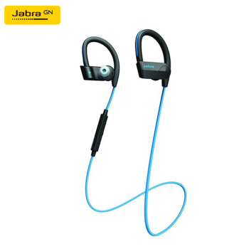 Jabra Sport Pace Wireless Bluetooth In-Ear Sports Headphones Blue Sweatproof Shockproof Weatherproof Fast Charge