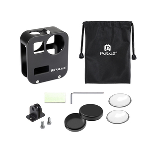 Image 2 - PULUZ Housing Shell Case Cover CNC Aluminum Alloy Protective Cage For GoPro Max &  Lens cap