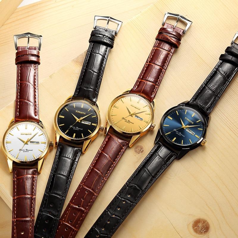 H336a14d5c3184ecc8d5d056d5a24d191H XINQITE Official Men Watches 2019 brand luxury Quartz Watches Fashion Genuine Leather Waterproof Watch for gentleman Students