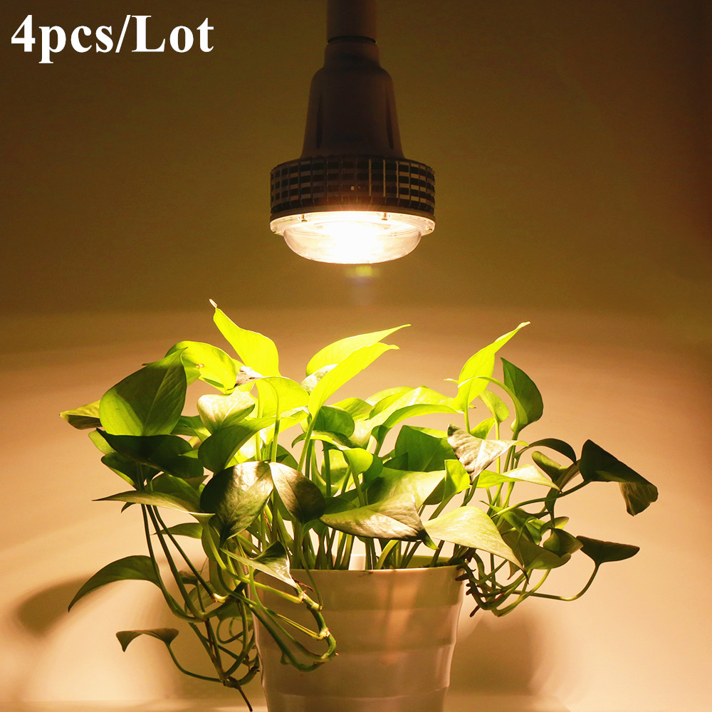 (4pcs/Lot) 100W E27 Full Spectrum Led Grow Lights For Hydroponics Cultivation Flowers Medical Indoor Plants Grow Tent Lighting