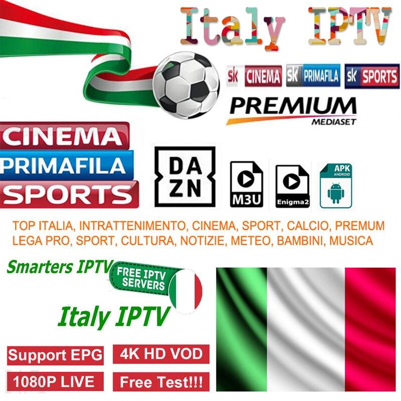 IPTV italia M3U assinatura IPTV Itália a mediaset premium dazn para smart tv android tv box enigma2 iptv mag italia 3500 + canais