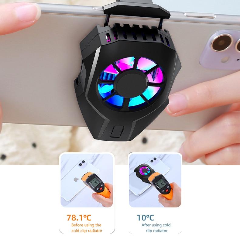 Для PUBG мобильный телефон кулер вентилятор охлаждения геймпад держатель кронштейн вентилятора радиатора для IPhone Huawei Xiaomi Tablet зарядка через ...