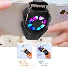 Para pubg telefone móvel cooler ventilador de refrigeração gamepad titular suporte ventilador radiador para iphone huawei xiaomi tablet usb carregamento