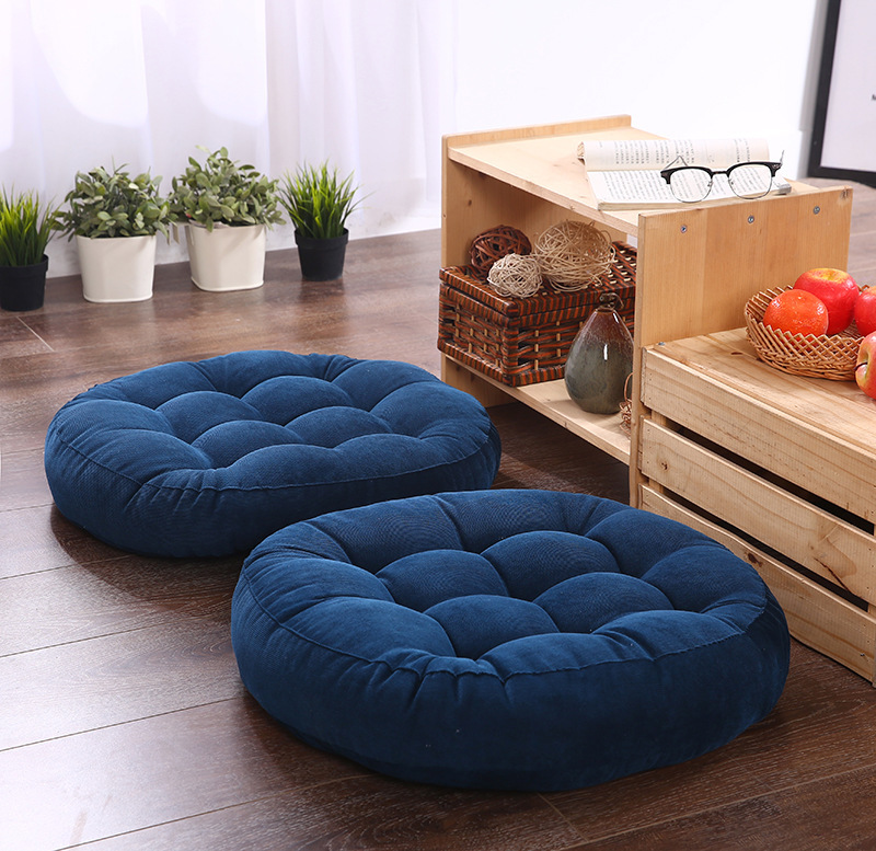 Tatami Cushion Pillow Floor-Seat Round-Shape Home-Decoration Cotton-Core Car 1pcs Soft title=